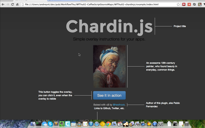 Screenshot of chardin.js overlay in action